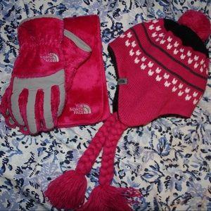Pink North Face Winter Set